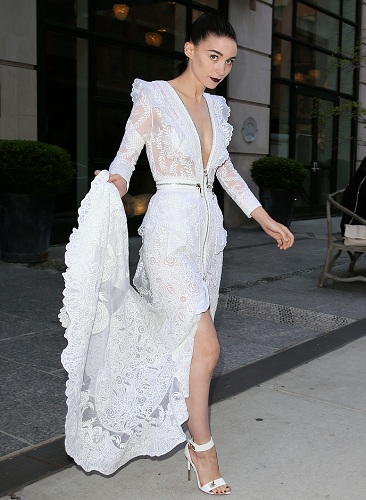 Actress Rooney Mara heads to the Met Ball Gala wearing Givenchy in New York City